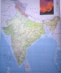 India Physical Map by Map Of India Travelling In India