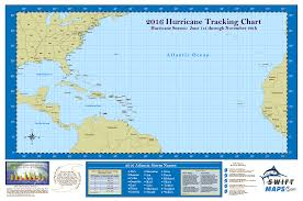 Hurricane Map 2016 Swiftmaps Official Atlantic Basin Hurricane Tracking Chart
