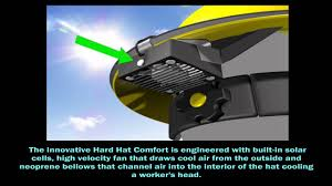 hat with fan built in hard hat comfort youtube