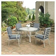 5 Pc Patio Dining Set South 5pc Metal Patio Dining Set W Chairs Gray