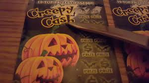 halloween scratch off tickets 4 5 pa creepy cash new halloween tickets sts 11 youtube