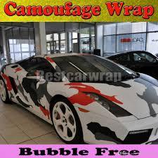 realtree camo lamborghini large camo red arctic camo vinyl car wrap film with air rlease