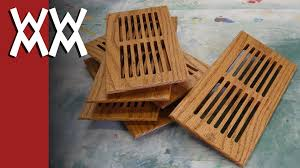 Floor Grates by Making Furnace Vent Register Covers Youtube