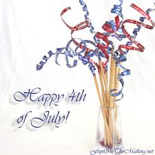 4th of july centerpiece made from recycled materials fun in the