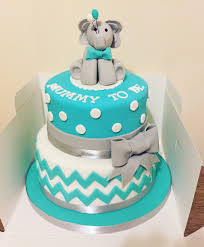 2 Tier Elephant Baby Shower Cakes