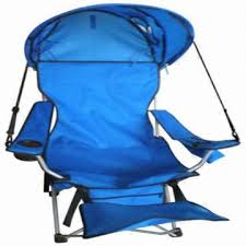 folding beach chair camping chair with canopy and footrest