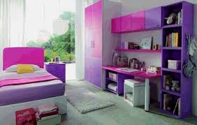 Bedroom Decorating Ideas With Purple Walls Single Bed On Platform Drawers Furnished Purple Bedroom Decor
