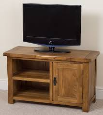 cotswold rustic solid oak small tv dvd stand living room