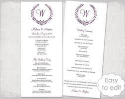 easy wedding program template rustic wedding program template fan wedding programs