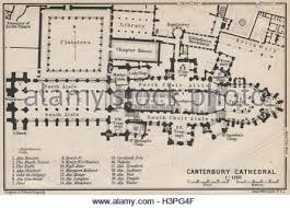 canterbury cathedral floor plan canterbury cathedral ground plan kent baedeker 1910 antique map