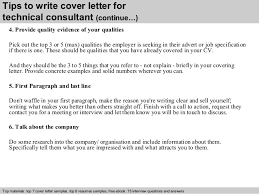 ideas collection cover letter technology consultant for sample