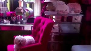 Makeup Room Decor Room Tour Idea How To Decorate Hot Pink Vanity Makeup Room