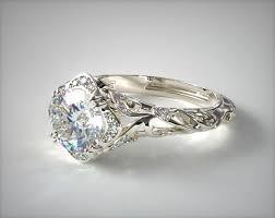 filigree wedding band diamond filigree engagement ring 14k white gold 17450w14