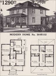 sears homes floor plans 1916 sears house plans modern home 264b102 prairie box foursquare