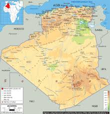 algeria map maps of algeria map library maps of the