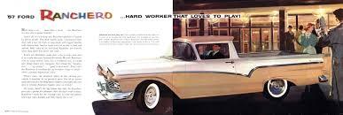Old Ford Truck Brochures - 1957 ford ranchero brochure