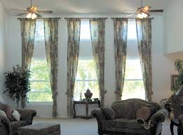 3 window living room curtain ideas u2022 curtain rods and window curtains