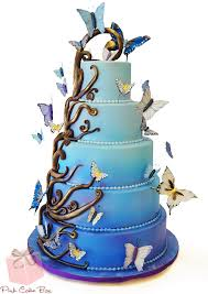 butterfly wedding cake ombré enchanted butterfly wedding cake wedding cakes