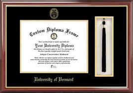frames for diplomas of vermont diploma frames certificate framing uvm