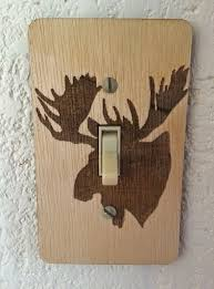craftsman style light switches wildlife wood burned birch light switch covers set of 5