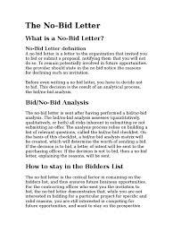 Business Letter Definition by Bid Letter Risk Cognition