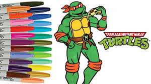 teenage mutant ninja turtles coloring book michelangelo tmnt