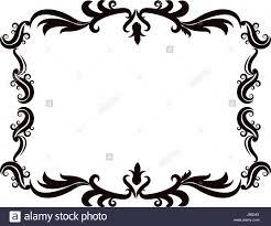 vintage baroque frame scroll floral ornament border retro pattern
