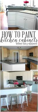 How To Paint Kitchen Cabinets Without Fancy Equipment Tutorials - Transform your kitchen cabinets
