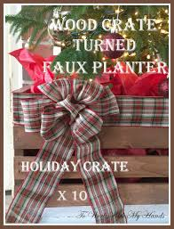 wood crate turned faux planter holiday crate x 10 wood crates