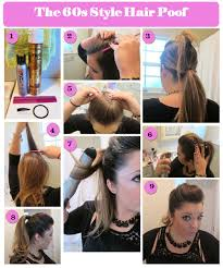 hair with poof on top how to master the 60s style hair poof and pony so easy hair