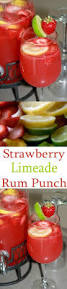 strawberry limeade rum punch recipe all she cooks