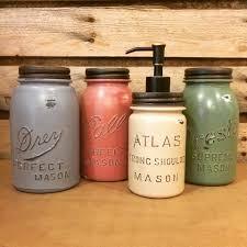 vintage mason jar canisters rustic kitchen decor mason jar soap