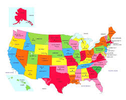 Labeled Map Of Us Map Of Us States With Capitals Cdoovision Com