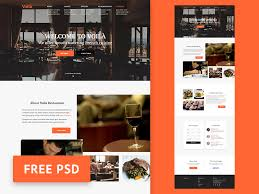 restaurant website template psd free psds u0026 sketch app resources