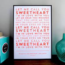 Light In Your Eyes Lyrics Framed Song Lyrics Gift