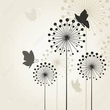 the butterfly sits on a flower a dandelion royalty free cliparts