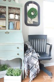 vintage office chair makeover in the kitchen the golden sycamore