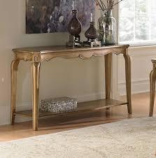 Glass And Metal Sofa Table Homelegance Chambord Champagne Gold Sofa Table 1828 05