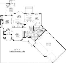 super ideas modern ranch style home plans angled kitchen 3 garage