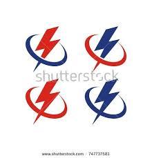 lightning logo template vector icon illustration stock vector