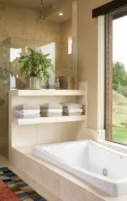 Travertine Bathtub Travertine Bathroom Bathroom Traditional With Chandelier White
