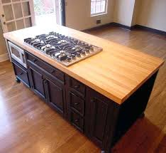 kitchen island top bamboo countertops island kitchen with gas range top and bamboo