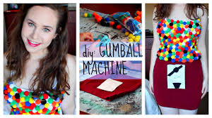 cheap creative halloween costume ideas diy halloween costume gumball machine cheap u0026 easy youtube