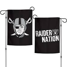 Raiders Flag Football Garden Flag