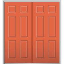 Steel Or Fiberglass Exterior Door 6 Panel 64 X 80 Front Doors Exterior Doors The Home Depot