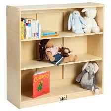 amazon com ecr4kids birch hardwood bookcase adjustable