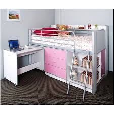 storage loft bed with desk charleston storage loft bed with desk white and pink carton 1