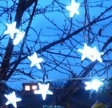 guirlande exterieure solaire 20 étoiles blanches feerie solaire