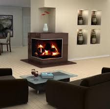 creative modern 3 sided gas fireplace design homesfeed with small