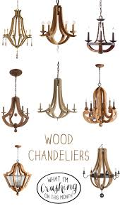Living Room Chandelier Wood Chandeliers Creative Home Decor Pinterest Wood